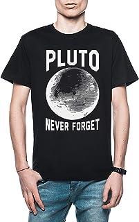 Rundi Pluto Never Forget Hombre Camiseta Negro Todos Los Tamaños - Men's T-Shirt Black