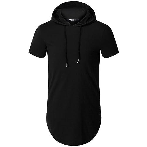 OLRIK Men s Hipster Hip Hop Hoodie Side Zipper Tshirt 051607023858