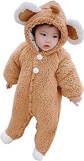 Abrigo y Chaqueta para niñas, Mono de Mameluco de Lana con diseño de Pijama de Dibujos Animados Lindo de Animales para beb...