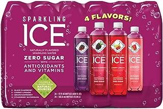 Sparkling ICE Variety Pack, 17 Fl Oz, 12 Count (Black Raspberry, Cherry Limeade, Orange Mango, Kiwi Strawberry) 24 Variety Pack