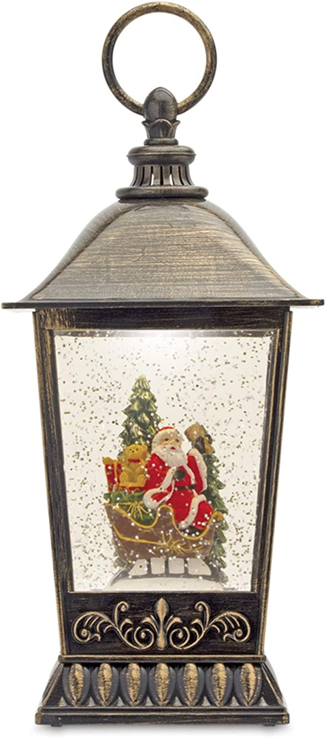 Melrose 80794 Plastic Snow Globe 11-inch Hei Santa with Opening large release Max 82% OFF sale Lantern