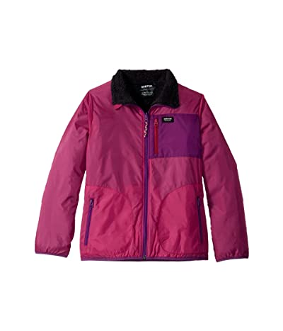 Burton Kids Snooktwo Reversible Fleece Jacket (Little Kids/Big Kids) (Fuchsia/True Black) Girl