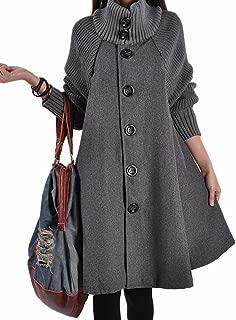 grey wool swing coat
