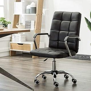 AAGYJ Silla de Escritorio para computadora ejecutiva Grande y Alta, Silla de Oficina ergonómica con reposabrazos y Soporte para la Cintura, sillas gerenciales de Cuero Suaves y cómodas, giratorias