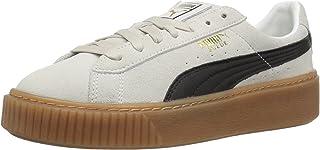 PUMA Women's Suede Platform Core Fashion Sneaker, Peacoat/Peacoat/Puma, 5.5 M US