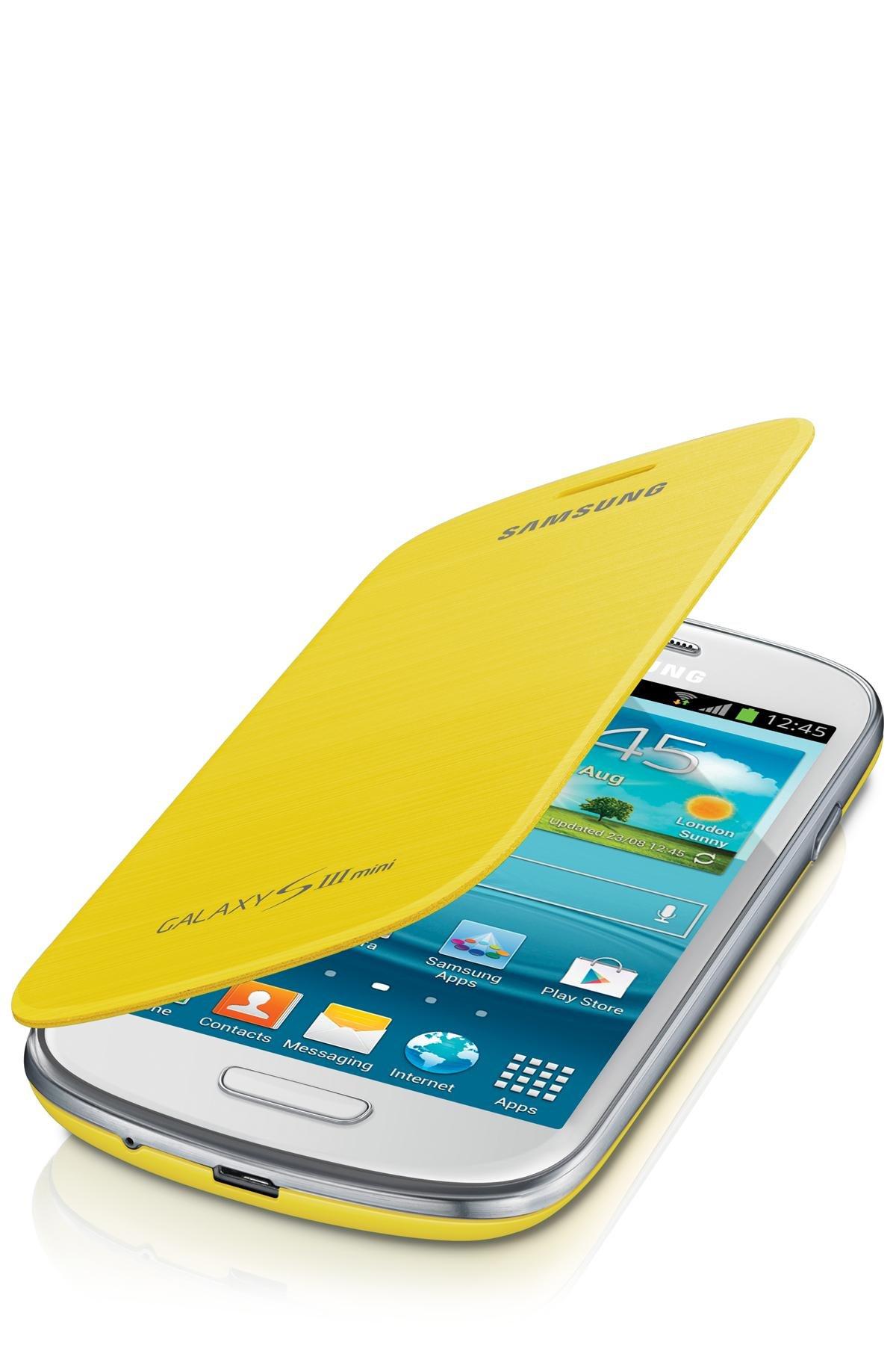 Samsung Flip - Funda para móvil Galaxy S3 Mini (Permite hablar con la tapa cerrada, sustituye a la tapa trasera), amarillo: Amazon.es: Electrónica