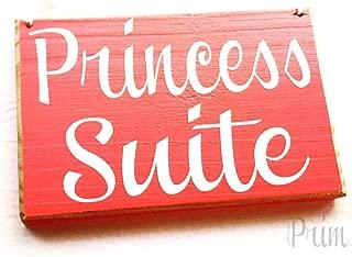CELYCASY 8x6 Princess Suite (Choose Color) Custom Bedroom Bed and Breakfast Hotel Spa Sleep Resort Welcome Door Plaque Hanger