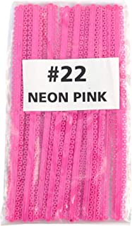 Dental Orthodontic Ligature Ties (#22 NEON PINK) Elastomeric O-rings Braces Rubber Bands (1056 pcs) Long Sticks