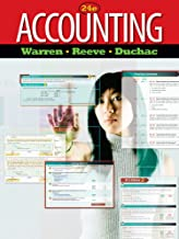 Bundle: Accounting, Loose-leaf Version, 24th + MindTap Accounting, 1 term (6 months) Printed Access Card with Selections from Warren/Reeve/Duchac's Principles of Accounting I, 24th