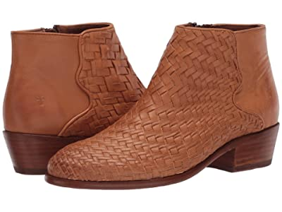 Frye Carson Woven Bootie (Tan Soft Full Grain) Women