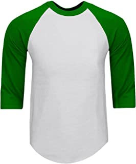 961bd1020edba Shaka Wear Mens Baseball T Shirts Raglan 3 4 Sleeves Tee Cotton Jersey S-