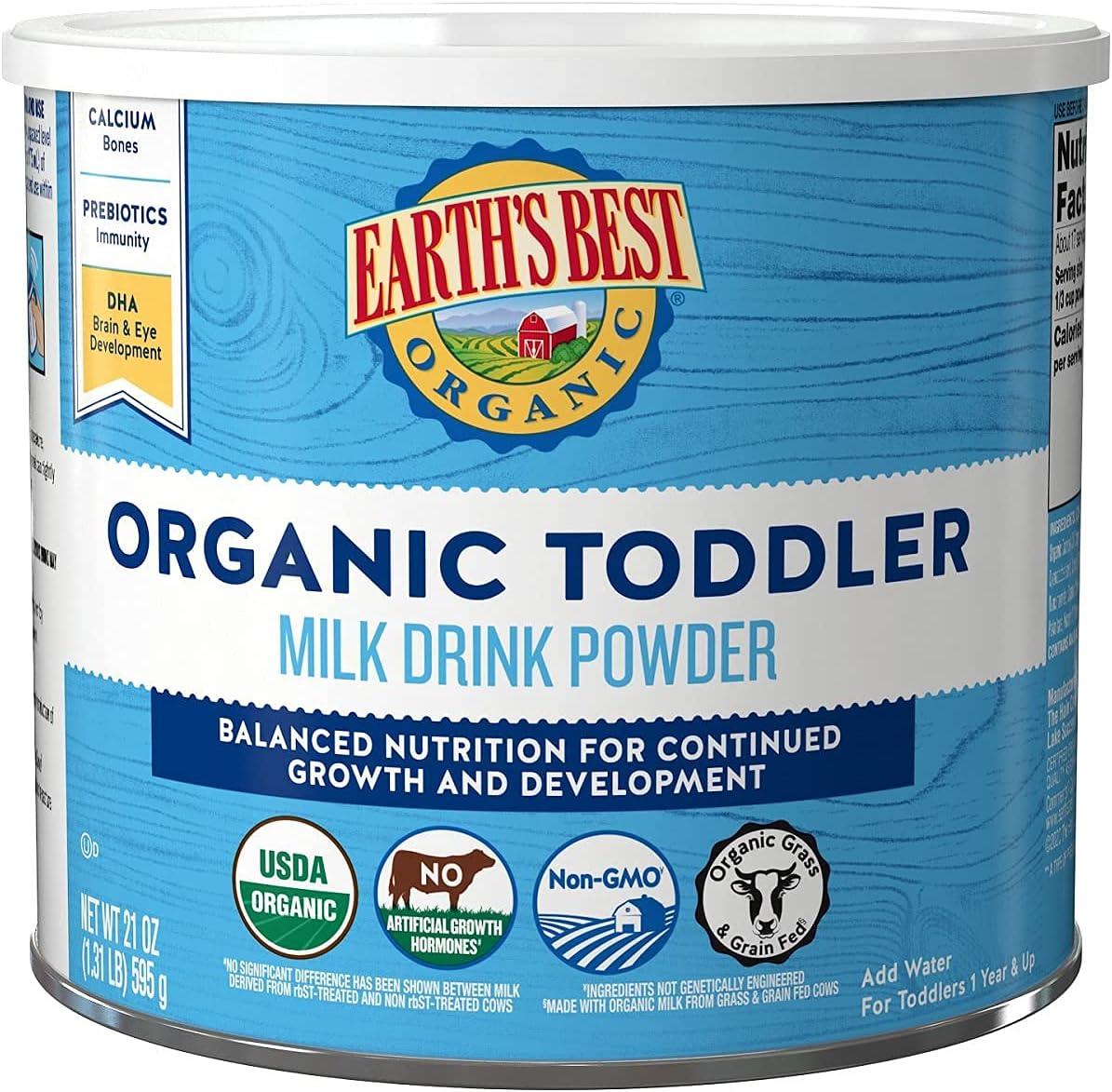 mart Earth's Best Organic Toddler In stock Milk Drink Powder Vanilla Natural