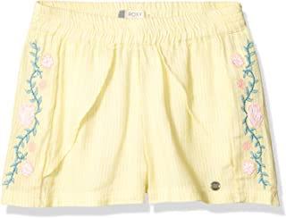 Roxy Girls ERGNS03044 River Flows Embroidered Shorts Shorts - Gray