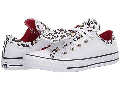 Converse Chuck Taylor All Star Double Upper Leopard Ox (White/Leopard) Women
