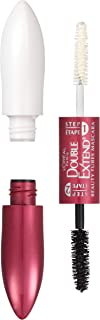 L'Oréal Paris Makeup Double Extend Beauty Tubes Lengthening 2 Step Mascara, Black, 1 Tube