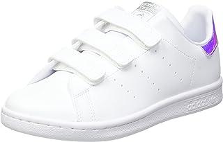 adidas Originals Stan Smith CF C, Baskets Mixte Enfant, Cloud White/Cloud White/Silver Metallic, 31 EU