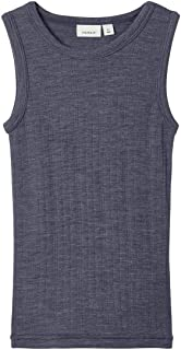 NAME IT Nmmwang Wool Needle Tank Top XX Camiseta sin Mangas para Niños