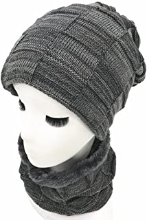 Leories Womens Slouchy Warm Snow Knit Cap Beanie Winter Hat Scarf Set