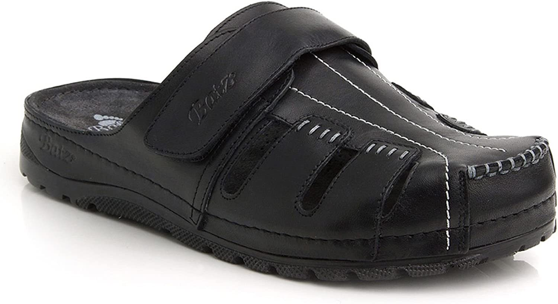 BATZ KZ Handmade Leather Mens Slip-on Clog Mule
