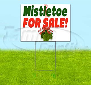 Mistletoe for Sale Corrugated Plastic Yard Sign, Bandit, Lawn, Decorations, New, Advertising, USA (18