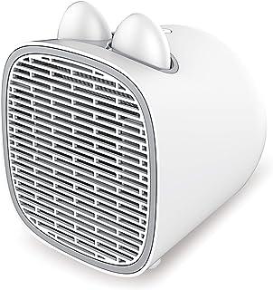 セラミックヒーター 電気ファンヒーター 電気ストーブ 【カイロ付き】小型 3秒速暖 足元ヒーター コンパクト ミニヒーター オフィス 脱衣所 温風 送風 暖房器具 転倒時オフ PSE認証済 INSE EH5 ホワイト