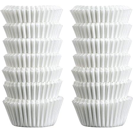 Zenker 43423 Caissettes en papier, moules papier 3 cm, lot de 240 moules papier, moules à chocolat, Papier, Blanc, 4,5 x 3 cm