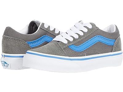 Vans Kids Old Skool (Little Kid) ((Pop) Gargoyle/Nebulas Blue) Boys Shoes