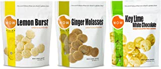 WOW Baking Company Cookies, Lemon Burst, Ginger Molasses, Key Lime White Chocolate, 8-Ounce (Variety Bundle Pack of 3)