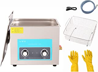 15L/3.9gallon Knob Ultrasonic Cleaner with Heater for Metal Parts, Carburetor, Fuel Injector, Brass, car Parts, Engine Par...