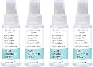 SPARITUAL Hand Sanitizer Spray 2oz Travel Size | 4-pack Bundle Alcohol Based Hand Sanitizers