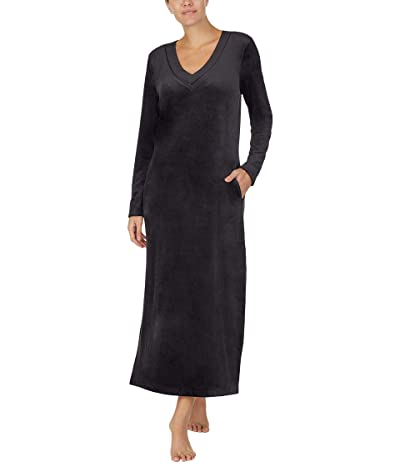 Donna Karan Casual Luxe Sleep Maxi Sleepshirt (Black) Women