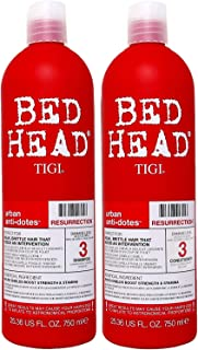 TIGI Bed Head Urban Antidotes Resurrection Shampoo & Conditioner for Damaged Hair (2), 1500 ml, Pack of 2