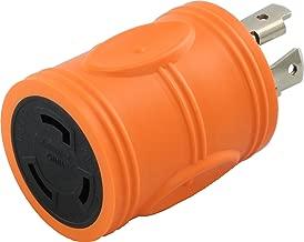 AC WORKS [ADL1430L530] Locking Adapter L14-30P 30A 125/250Volt 4-Prong Male Plug to L5-30R 3-Prong 30A 125Volt Locking Adapter