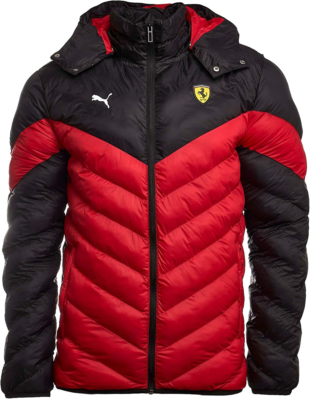 Puma Scuderia Ferrari Race Mcs Ecolite Men S Jacket Rosso Corsa S Bekleidung