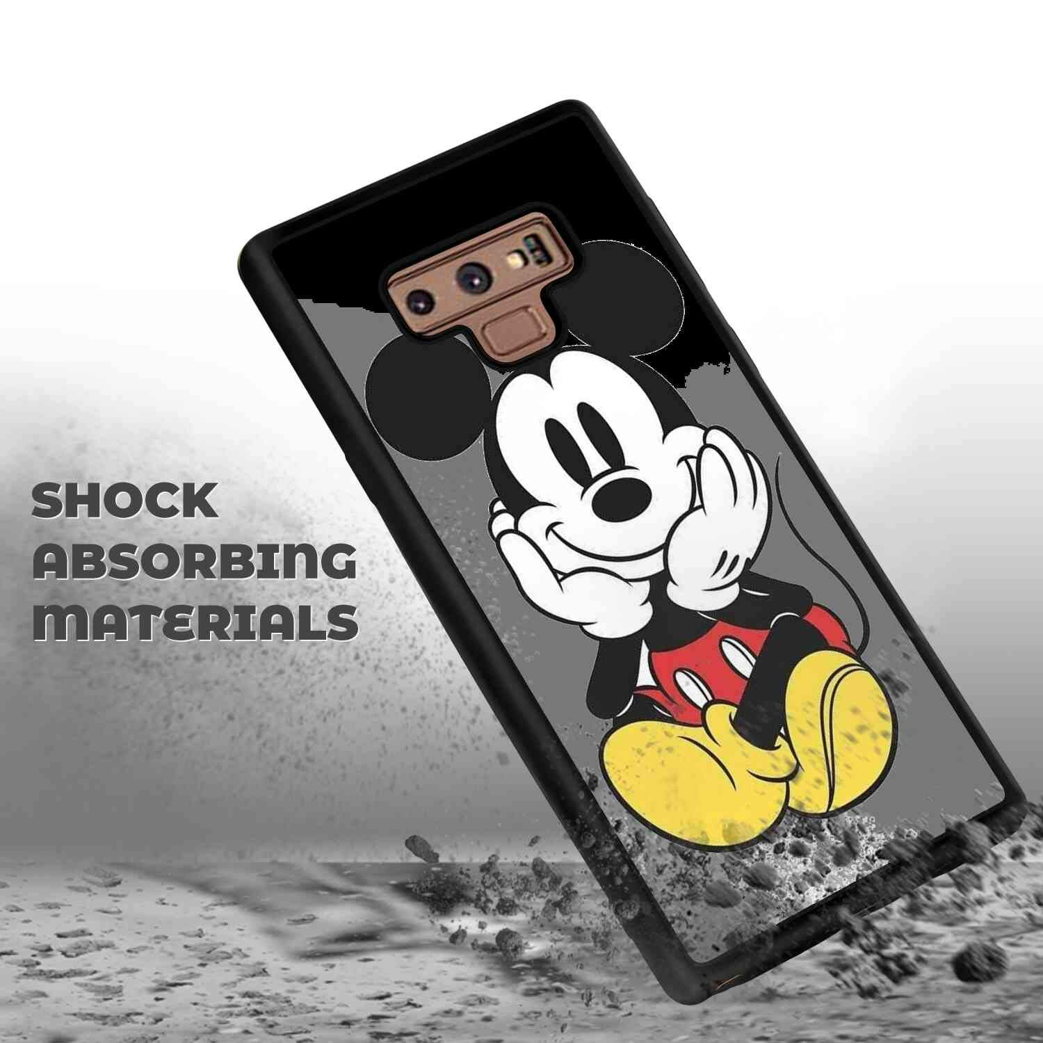DISNEY COLLECTION Phone Case Cover Samsung Galaxy Note 9, Mickey Mouse Ultra-Slim [Anti-Scratch] Protective Shockproof Cover