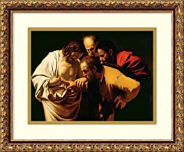 Framed Wall Art Print The Incredulity of St. Thomas, 1602-03 by Michelangelo M. da Caravaggio 17.62 x 14.62