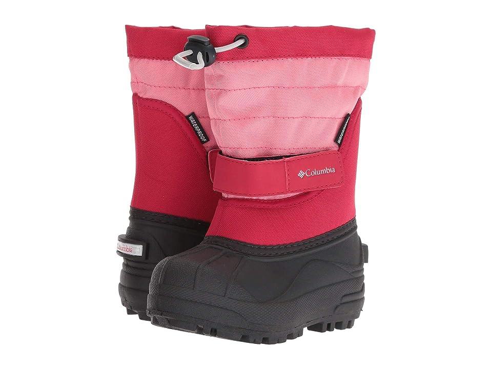 Columbia Kids Powderbug Plus II (Toddler/Little Kid/Big Kid) (Camellia Rose/Grey Ice) Girls Shoes