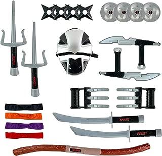 Deluxe Ninja Warrior Weapons Playset - Kids Pretend Role Play Toy Costume Accessories