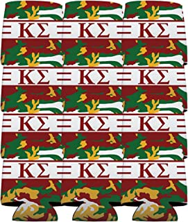 VictoryStore Can and Beverage Coolers - Kappa Sigma, Army Camo Pattern, Set of 12