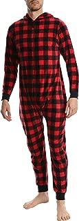 Men's Fleece Pajama Onesie - Adult One Piece Zip Up Pajamas & Loungewear