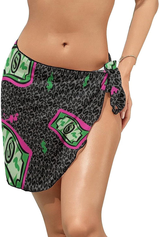 JINJUELS Women's Beach Sarongs Bikini Cover Ups Falling US Dollars Sheer Swimwear Short Skirt