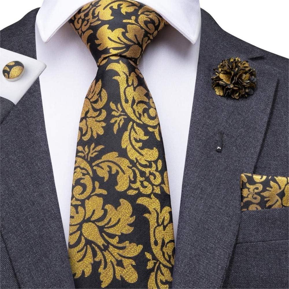 ZXCVBN Mens Tie Set Classic Necktie Handkerchief Set Floral Ties Pocket Square Party Wedding Flower Ties for Men
