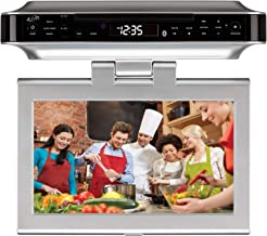 iLive Under Cabinet Bluetooth Wireless CD/DVD/FM Radio Player, Silver (IKTD1037S)