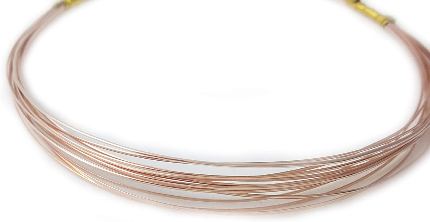 26 Gauge, 14 20 pink Pink gold Filled, Round, Dead Soft  25FT from Craft Wire