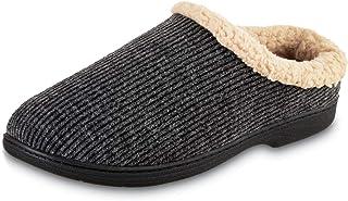 isotoner Men's Sherpa Memory Foam Hoodback Slippers