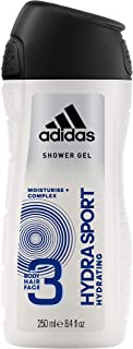 Adidas Hydra Sport 3in1 Body, Hair and Face Shower Gel for Him 250ml