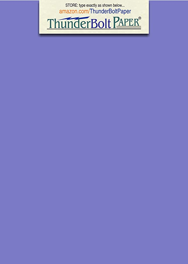 200 Bright Blue Violet 65lb Cover|Card Paper - 5 X 7 Inches Photo|Card|Frame Size - 65 lb/Pound Light Weight Cardstock - Quality Printable Smooth Surface for Bright Colorful Results