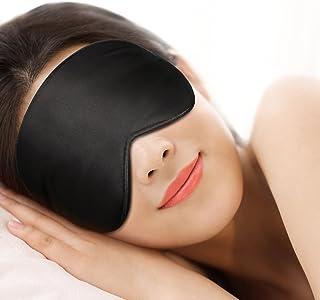 GANA Sleeping Mask Eye Mask for Sleeping Men Women Kids Light Blocking Lightweight Soft, Comfortable and Adjustable 3D Sleeping Mask Black