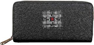 Eminem 人気 男女兼用 高級PU 長財布 小銭入れ 携帯電話 超薄い キルティング 財布 大容量 ロングウォレット