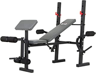 Body Champ Standard Weight Bench with Butterfly and Preacher Curl, Incline/Flat Adjustable BCB580